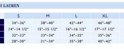 上衣尺码对照表 海淘常用——美国上衣尺码表